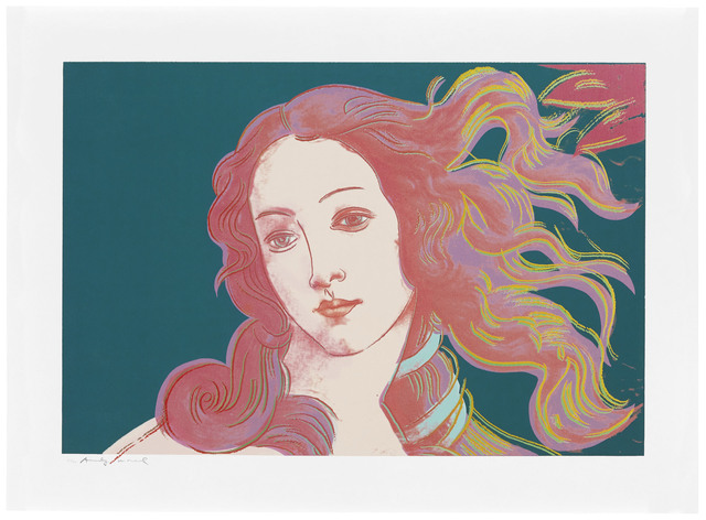 Andy Warhol, 'Details of Renaissance Paintings (Sandro Botticelli, Birth of Venus, 1482): one plate', 1984, Christie's