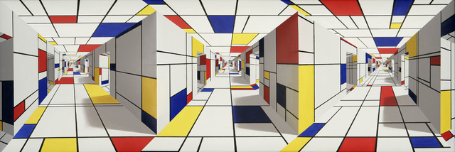 , 'All-out Mondrian,' 2005, Flowers