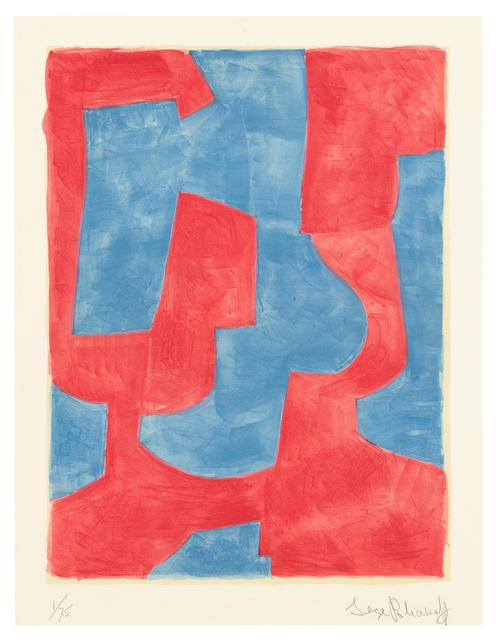 , '»Composition bleue et rouge«,' 1966, Ludorff