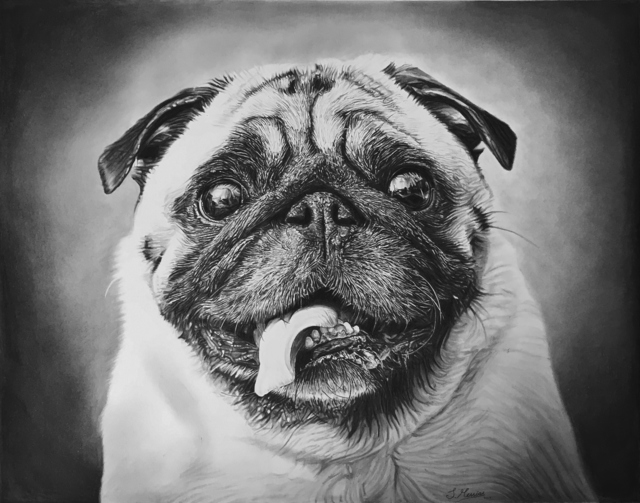 , 'Pugs and Kisses,' 2017, Agora Gallery