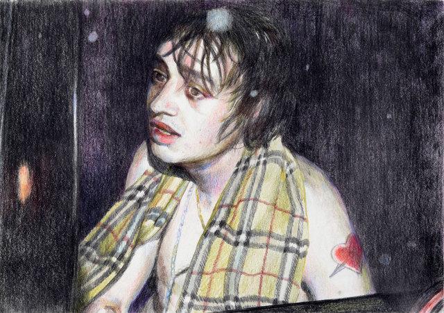 , 'Peter wearing scarf,' 2018, Galerie Kleindienst