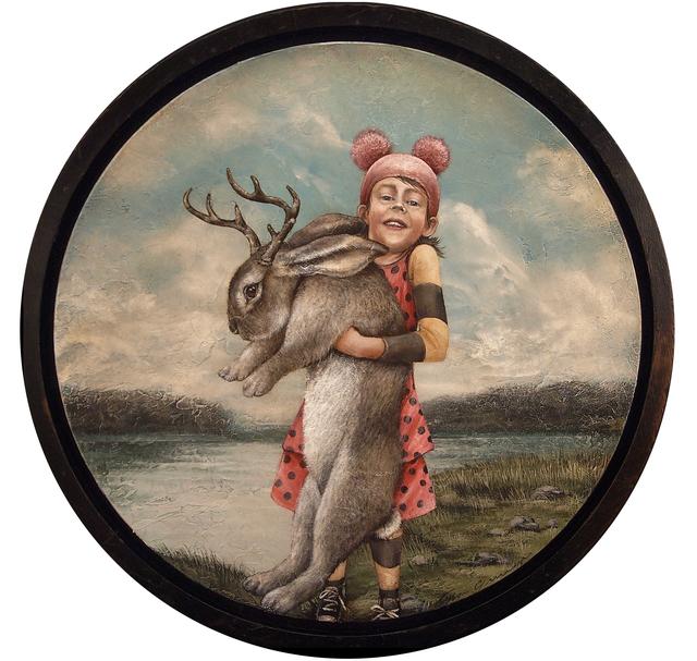 , 'Pink Jackalope Hunter,' 2017, Patricia Rovzar Gallery