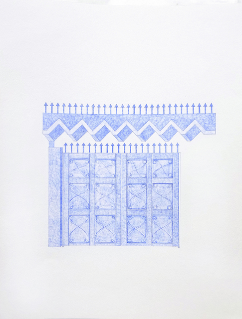 Seher Naveed, 'Gate 1 (High Gate Series)', 2018, Drawing, Collage or other Work on Paper, Pencil on paper, Aicon Gallery