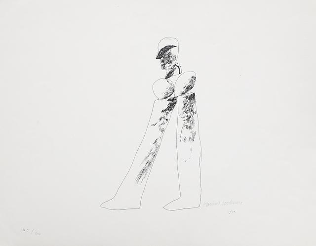 David Hockney, 'Walking Man', 1964, Mr & Mrs Clark's