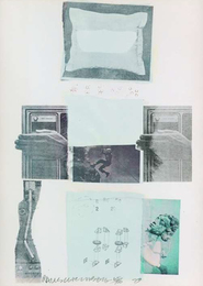 Robert Rauschenberg, 'Two Reasons Birds Sing', Mixed Media, Color Screenprint with Fabric Collage, LaMantia Fine Art Inc.