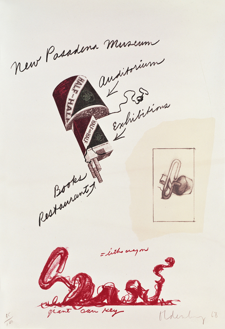 , 'Notes, Untitled (New Pasadena Museum),' 1968, Gemini G.E.L.