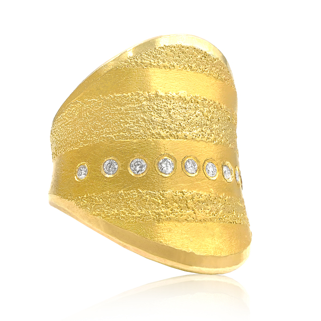 , 'Golden Diamond Curve Ring,' 2016, Szor Collections