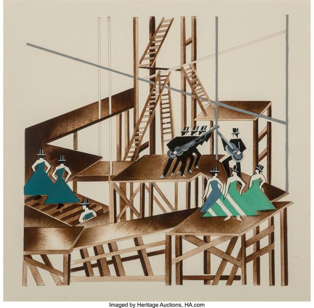 Alexandra Exter, 'Constructivist Stage Set Design for a Jazz Musical', circa 1920, Heritage Auctions