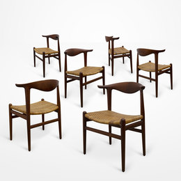 Cowhorn chairs (set of six)