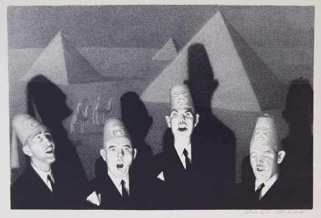 Grant Wood, 'Shrine Quartet', 1939, Aaron Galleries