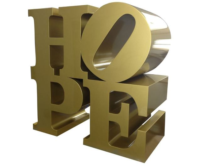 , ' HOPE gold  ,' 2009, Contini Art Gallery