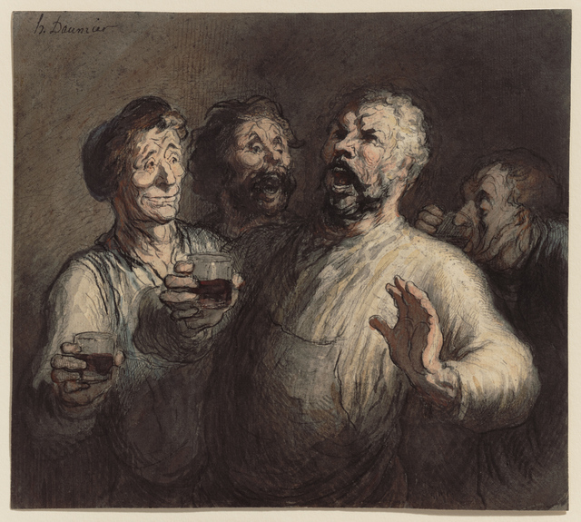 Honoré Daumier, 'The Drinkers', ca. 1860, Clark Art Institute