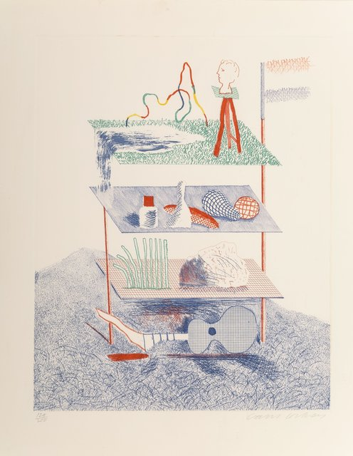 David Hockney, 'Serenade, from The Blue Guitar', 1976-77, Heritage Auctions