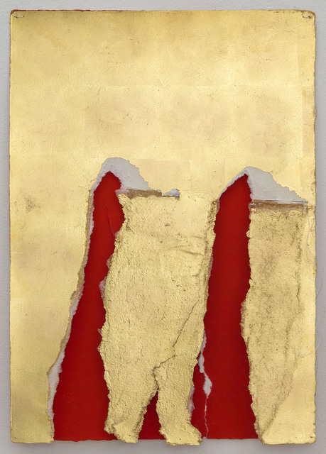 , 'Wound Construction in Gold and Red,' 2014, Josée Bienvenu