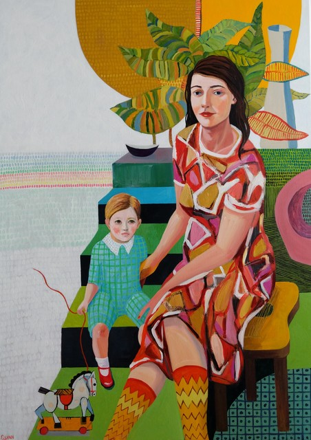 , 'Mother and Son,' 2019, Kittoe Contemporary