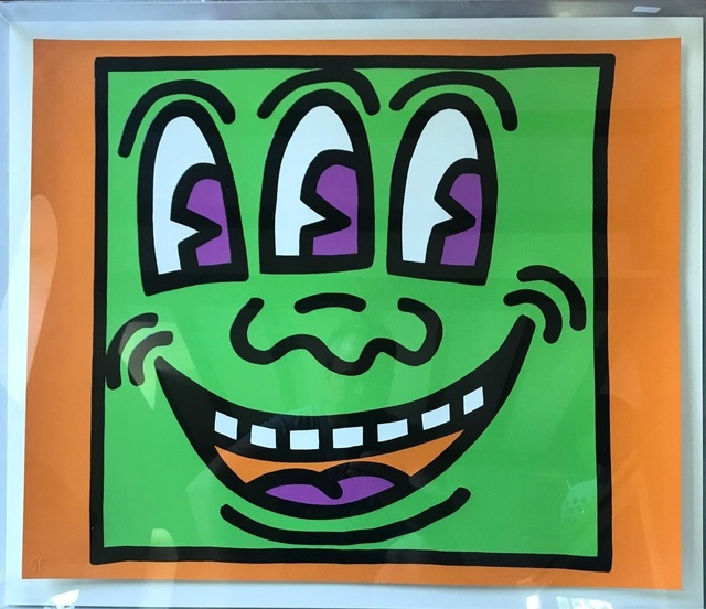 Keith Haring, 'Icons (3 Eyed Face)', 1990, Reuben Colley Fine Art
