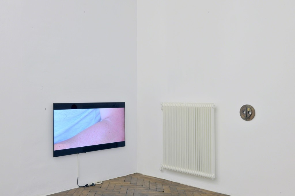 Danilo Correale. The surface of my eye is deeper than the ocean. 2011. 2K – Cinemascope on Blue Ray DVD. Ed. 5  and James Lewis. Two Forms (after Barbara Hepworth). 2012. wall sculpture (metal)