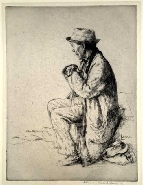 William Auerbach-Levy, 'The Traveler (also The Emmigrant, Marchant des'habits)', 1920, Harris Schrank Fine Prints