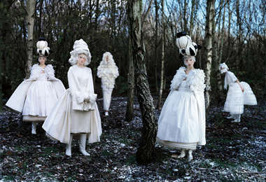 Tim Walker, 'Xiao Wen Ju, Frida Gustavsson, Anaïs Pouliot & Fei Fei Sun, Comme des Garçons 'White Drama' Collection, London,' 2011, Phillips: Photographs (November 2016)