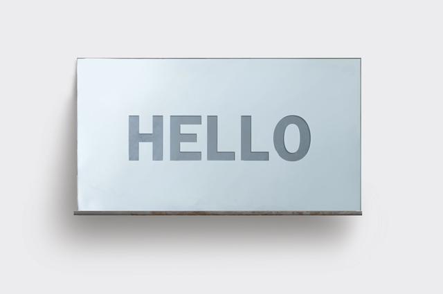 , 'HELLO,' 2017, Christine König Galerie