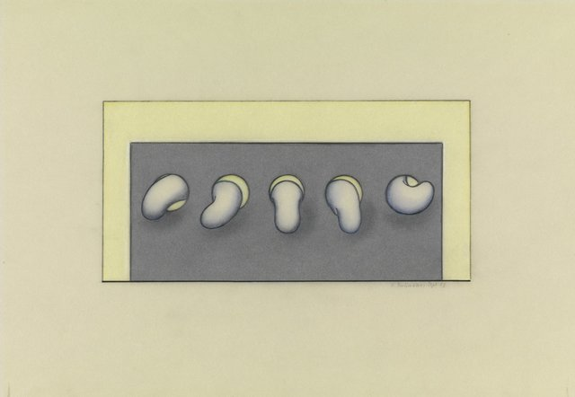 , '5 Wurmer [5 Worms],' 1973, Richard Saltoun