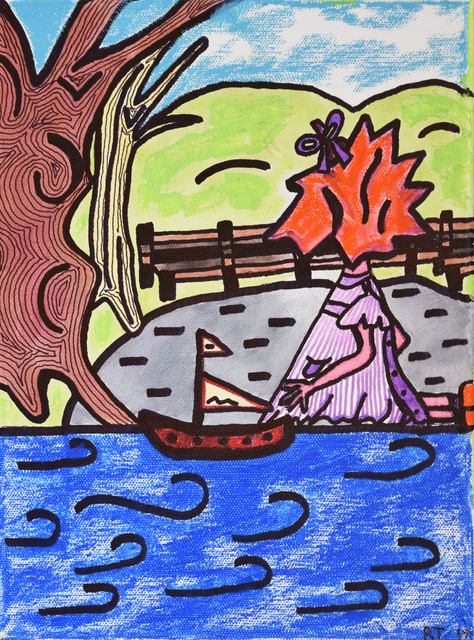 Robin Taylor, 'Jenny at the Boat Pond', 2018, Fountain House Gallery