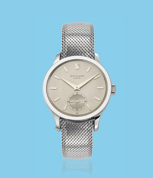 , 'Stainless steel Calatrava wristwatch, ref. 570,' ca. 1950, Davide Parmegiani Fine Watches