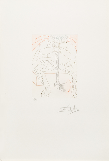 Salvador Dalí, 'Henry VIII from Shakespeare II', Print, Color etching, Hindman