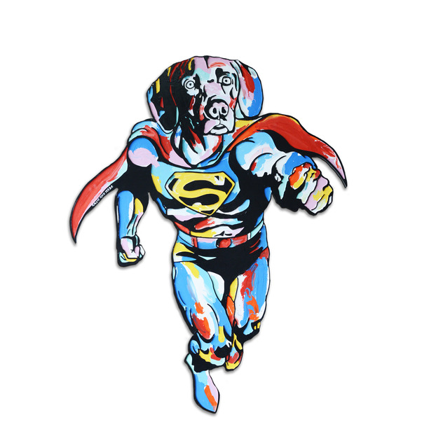 , 'He was a bird, a plane… no, he was Super Dogman ,' 2017, Gillie and Marc Art Gallery
