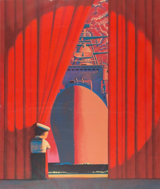 Liu Ye 刘野, 'Big Flagship (Red/Little Navy)', 2009, Print, Screenprint in colors on paper, Heritage Auctions