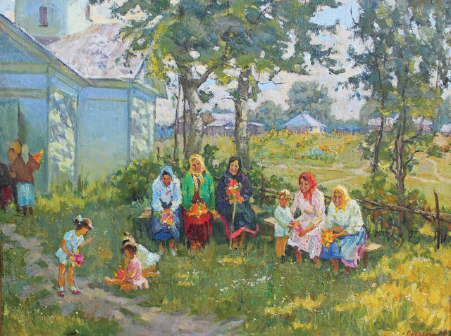 , 'In the Yard,' 1975, Paul Scott Gallery & galleryrussia.com