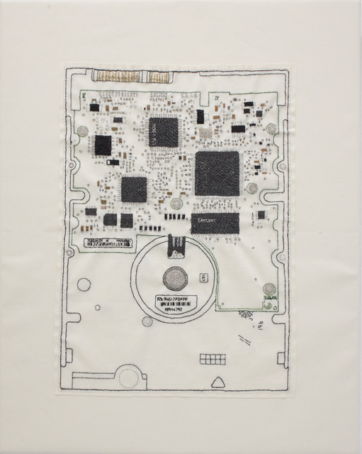 , 'Hand-stitched iMac circuit board,' 2017, YOD Gallery