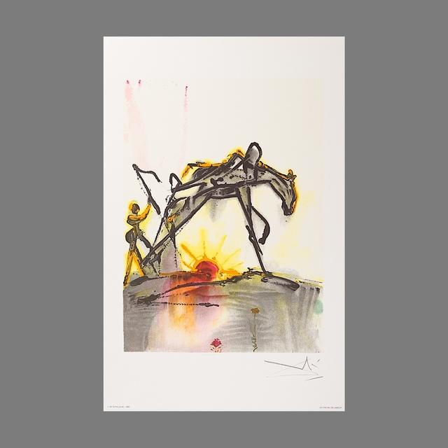 Salvador Dalí, 'Le Cheval de Labeur (The Horse of Labor)', 1983, Print, Lithograph on Vélin d'Arches Paper, Art Lithographies