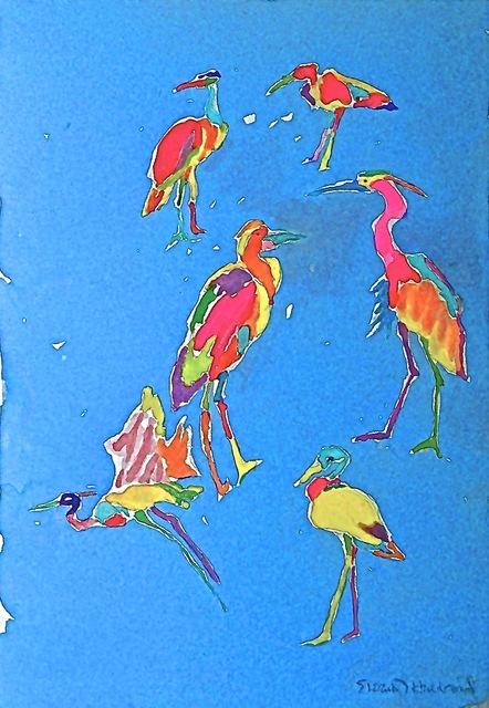 Eleanor Hubbard, '6 Ways of Looking at Cranes', 2015, Walter Wickiser Gallery