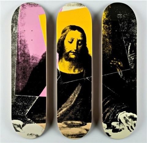 "Andy Warhol, 'ANDY WARHOL ""JESUS, THE LAST SUPPER"" TRIPTYCH SKATE DECKS', ca. 2015, Arts Limited"