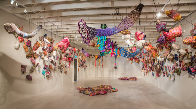 The GedAze Project, 'Passage', 2018, Installation, Yarn, repurposed fabric, found, personal and fabricated objects, Singapore Art Museum (SAM)
