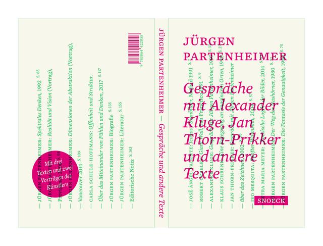 , '»Gespräche und mit Alexander Kluge, Jan Thorn-Prikker und andere Texte,' 2017, Häusler Contemporary