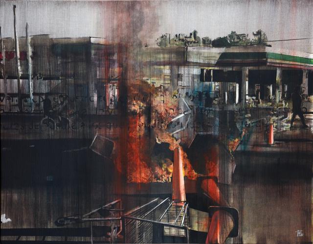 , 'Calles de fuego 4,' 2017, Galería Casa Lamm