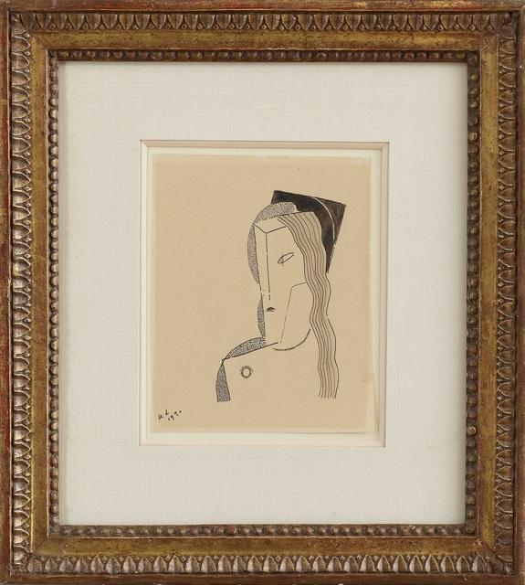 , 'Buste de femme au collier de perles,' 1920, DICKINSON
