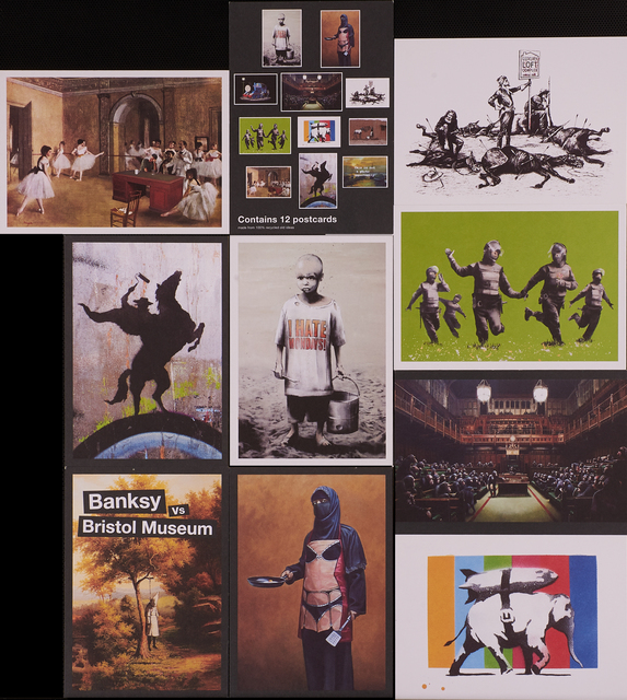 Banksy, 'Partial set of postcards from Banksy vs. Bristol Museum exhibition', 2005, Rago/Wright