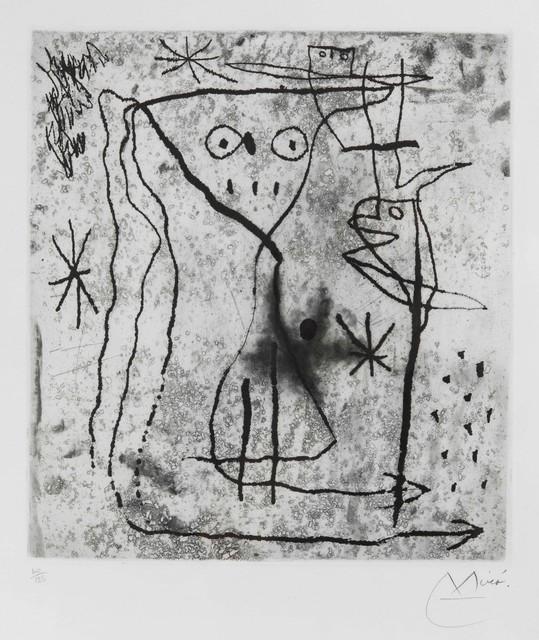 Joan Miró, 'Jeune fille en fleur avec les oiseaux, from Trente ans d'activite', 1967, Cambi