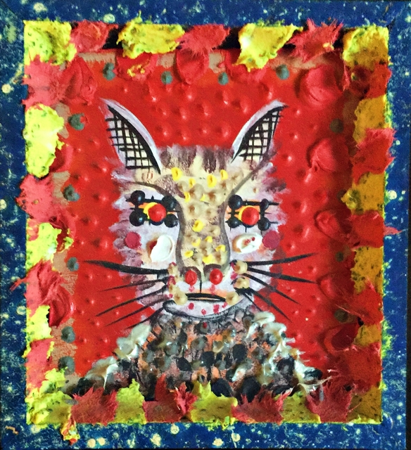 ", 'CAT (created by Roy de Forest exclusively for the ""Patrick Eddington Cat Project"", and gifted to Eddington),' 2000, Alpha 137 Gallery"