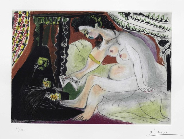 Pablo Picasso, 'Bathsheba', circa 1960, Print, Aquatint in colors, on Rives BFK paper, Christie's