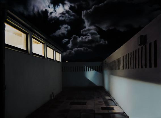 , 'Night Courtyard III,' 2017, Barnard