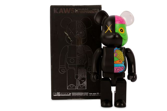 KAWS, 'OriginalFake Dissected Bearbrick Companion 400% (Black)', Chiswick Auctions