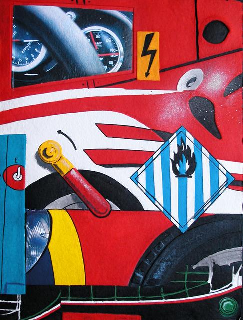Peter Klasen, 'Ferrari', Galerie Vivendi