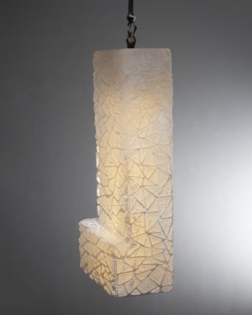 , 'Unique Triangle Relief pendant lamp in white and opaline glass,' 2015, R & Company