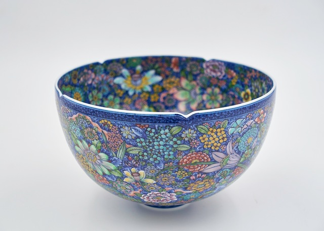 , 'Bowl with 'Ten Thousand Flowers' Motif,' 2016, Ippodo Gallery