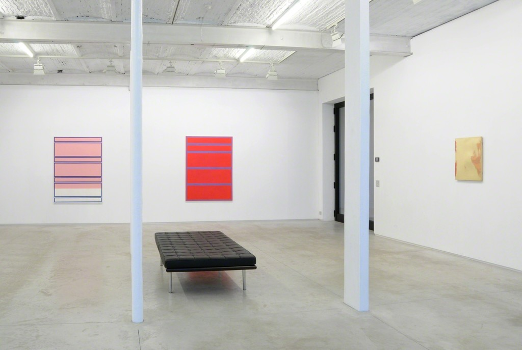 installation view of the paintings by Vincent de Roder and Nicolas Kozakis in the group show 'the proof of the pudding is in the eating' #2