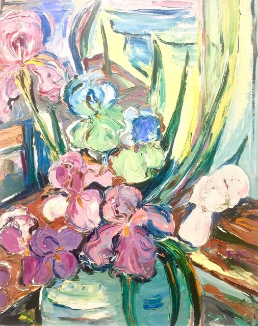 , 'Green & pink irises ,' ca. 1960, Absolut Art Gallery